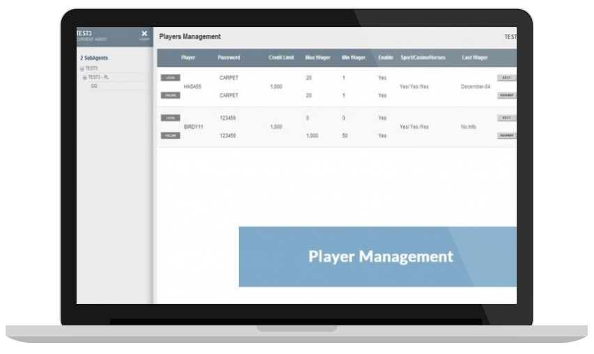 Player Management Online Betting Software for Bookies & Bettors