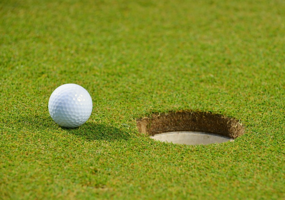 golf ball on US Open golf course